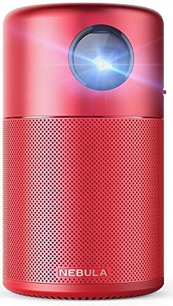 nebula capsule by anker red projector